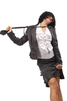 Free Sexy Secretary With Black Tie Royalty Free Stock Image - 18869806