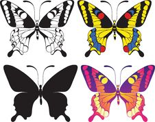 Free Set Of Butterflies Royalty Free Stock Photography - 18869987