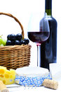 Free Cheese, Wine, Grapes Royalty Free Stock Photos - 18872168