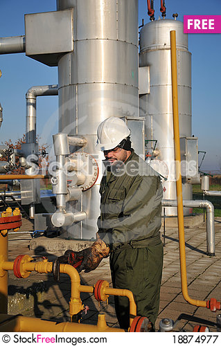 Free Gas Operator Royalty Free Stock Photography - 18874977