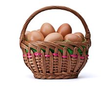 Free Eggs In Easter Basket Royalty Free Stock Photography - 18870247