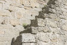 Free Ladder On A Medieval Wall Royalty Free Stock Image - 18870626
