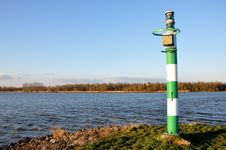 View At The River Amer With A Beacon. Royalty Free Stock Photography