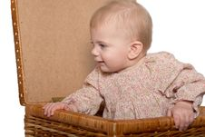 Free Baby In Basket Stock Photography - 18871552