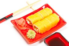 Free Sushi Rolls Royalty Free Stock Photography - 18871637