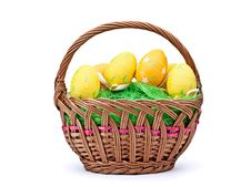 Free Eggs In Easter Basket Royalty Free Stock Photo - 18871735