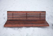 Free Park Bench In The Snow Stock Image - 18871801