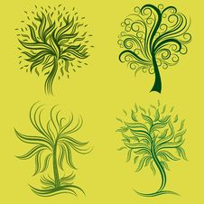 Free Vector Set Of Spring Tree Design Elements Royalty Free Stock Photo - 18871815