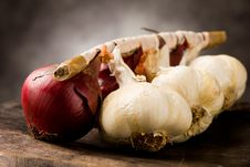 Free Onion And Garlic Stock Photo - 18872150