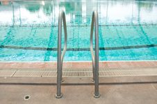 Some Steel Into The Pool. Royalty Free Stock Photography