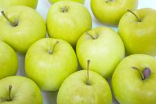 Free Green And Yellow Apples On A White Background Royalty Free Stock Photos - 18875188