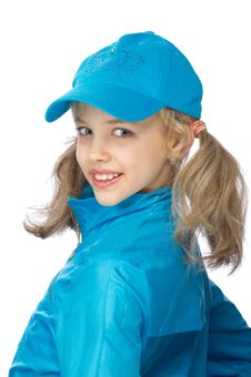 Free Yong Girl In The Blue Cap Stock Photos - 18875373
