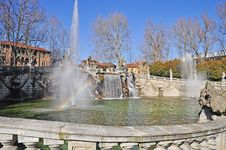 Free Fountain Of The Months In Turin, Piedmont, Italy. Stock Photos - 18875603