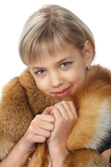 Free Beautiful Young Blond Girl In Fur Stock Photo - 18875610