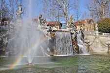 Free Fountain Of The Months In Turin, Piedmont, Italy. Stock Photography - 18875652