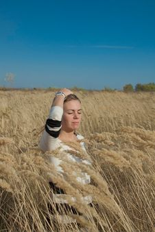 Free Happy Young Woman In A Field Of Wheat Stock Photography - 18875682