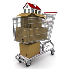 Free House From A Cardboard Box Royalty Free Stock Photography - 18875777