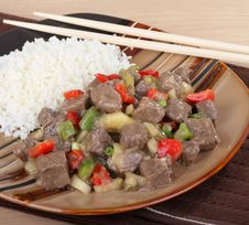 Free Sweet And Sour Beef Royalty Free Stock Photography - 18875787