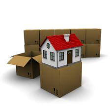 Free House From A Cardboard Box Royalty Free Stock Photography - 18875857