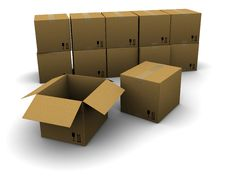 Free Group Of Cardboard Boxes Royalty Free Stock Photography - 18875897