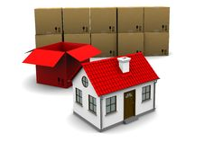 Free House Of Red Cardboard Box Royalty Free Stock Photo - 18875995