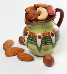 Free Nuts In The Jug Royalty Free Stock Image - 18876996
