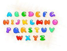 Colorful Alphabet Stock Image