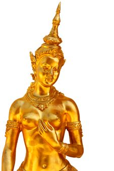 Free Native Thai Style Angel Statue Royalty Free Stock Photography - 18877537