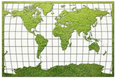 Free Green Grass World Map Royalty Free Stock Images - 18877629