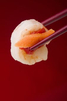 Free Shrimp In Chopsticks Stock Images - 18878284