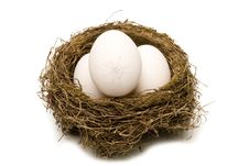 Free A Cracked Egg In Every Nest Royalty Free Stock Photos - 18878668