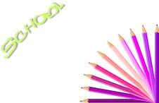 Free Happy Background With Colored Pencils Royalty Free Stock Images - 18878779