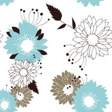 Free Flowers Seamless Retro Pattern Stock Images - 18878824