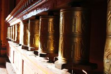 Free Prayer Wheels In Tibet Royalty Free Stock Photos - 18879168
