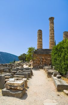 Free Ruins Of The Ancient City Delphi, Greece Royalty Free Stock Images - 18879189