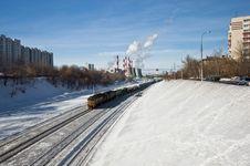 Free Cargo Train In City Stock Photo - 18879670
