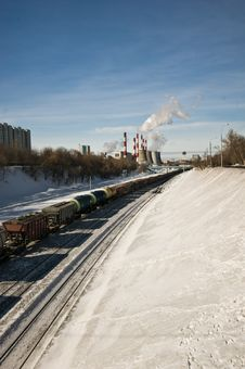 Free Cargo Train In City Stock Images - 18879694