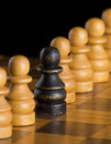 Free Black Chess Pawn Royalty Free Stock Image - 18883456