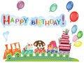 Free Birthday Postcard Royalty Free Stock Photos - 18886438
