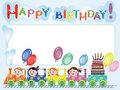 Free Birthday Postcard Royalty Free Stock Photography - 18886647
