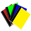 Free 3d Colorful Books Stacked In A Fan Outlay Stock Images - 18888804