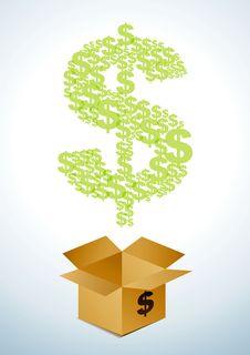 Free Box Of Dollars Royalty Free Stock Image - 18880006