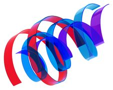 Free Multicolored Ribbons Royalty Free Stock Photography - 18880917