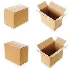 Free Cardboard Boxes   Isolated Royalty Free Stock Images - 18880979