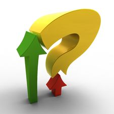 Free Two Arrows With Question Mark Royalty Free Stock Photo - 18881855