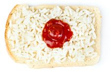 Sandwich With A Flag Of The Japan Royalty Free Stock Images