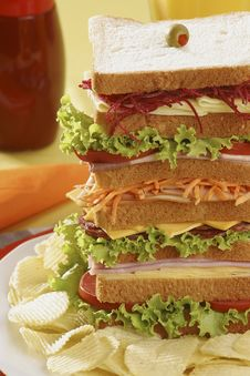 Free Tall Sandwich Royalty Free Stock Image - 18883656