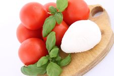 Caprese Salad Ingredients Royalty Free Stock Images