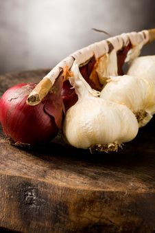 Free Onion And Garlic Stock Image - 18884281