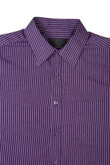 Purple  Pinstriped Dress Shirt Royalty Free Stock Photos